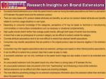 research insights on brand extensions