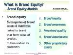 what is brand equity brand equity models2
