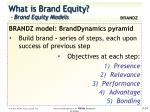 what is brand equity brand equity models5