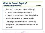 what is brand equity brand equity models6