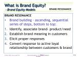 what is brand equity brand equity models7