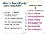 what is brand equity brand equity models8