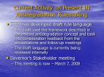 current activity on present in antidegradation rulemaking
