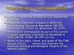 federal history of antidegradation