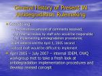 general history of present in antidegradation rulemaking