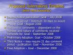 proposed rulemaking timeline best case scenario