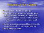 protection of tier 1 waters