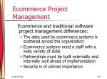 ecommerce project management