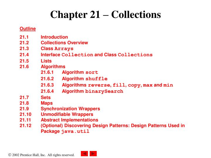 chapter 21 collections n.