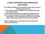 global enterprise data warehouse challenges