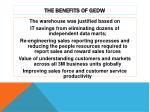 the benefits of gedw