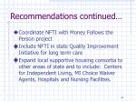 recommendations continued1