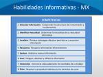 habilidades informativas mx