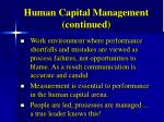 human capital management continued1