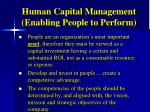 human capital management enabling people to perform