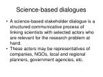 science based dialogues