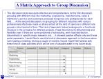 a matrix approach to group discussion