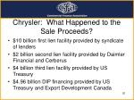 chrysler what happened to the sale proceeds