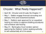 chrysler what really happened