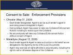 consent to sale enforcement provisions