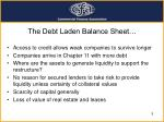 the debt laden balance sheet