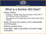 what is a section 363 sale