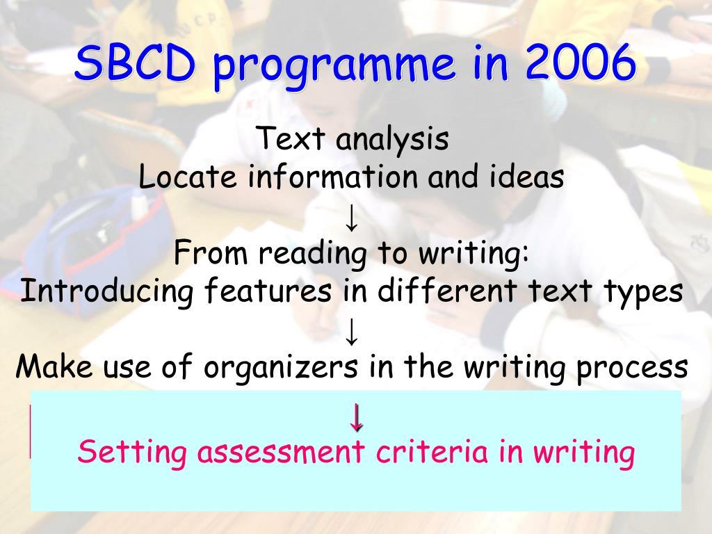 SBCD programme in 2006