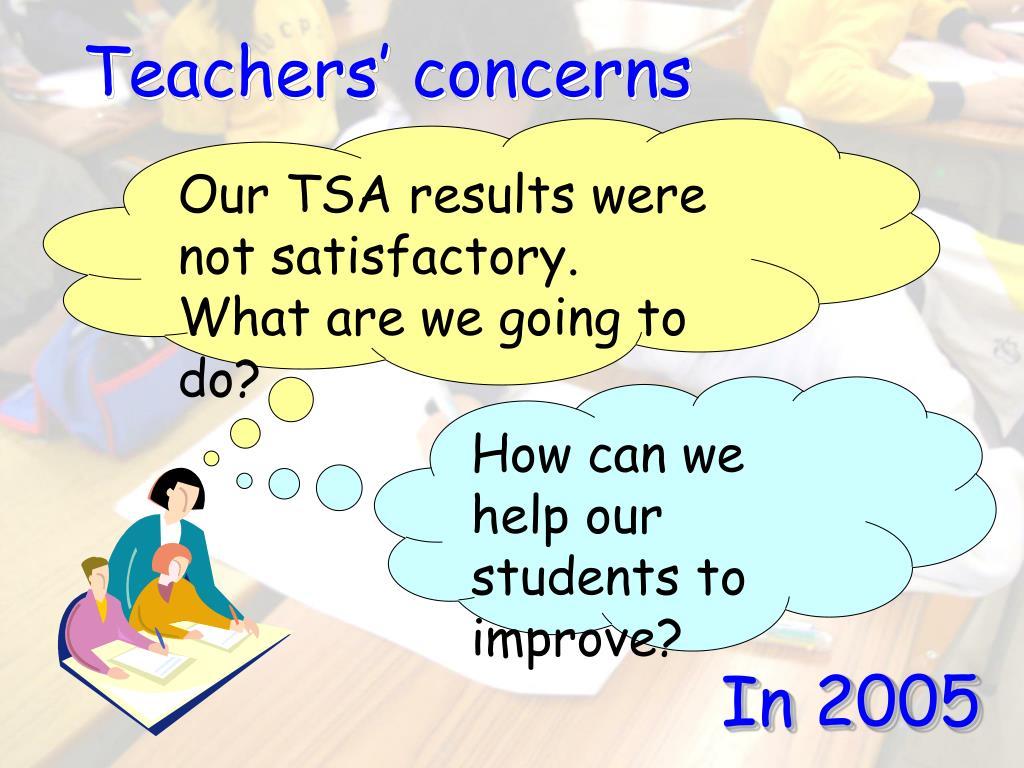 Teachers' concerns