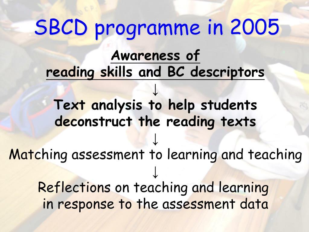 SBCD programme in 2005