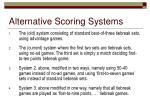 alternative scoring systems
