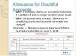 allowance for doubtful accounts1