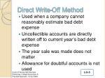 direct write off method