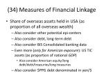 34 measures of financial linkage