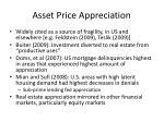 asset price appreciation