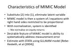 characteristics of mimic model