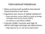 international imbalances