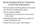results disappointing for proponents of early warning systems