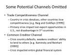some potential channels omitted