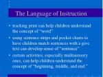 the language of instruction
