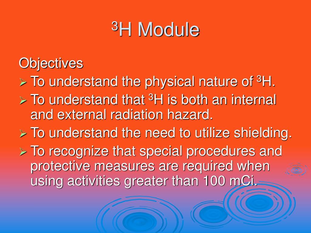 3 h module l.