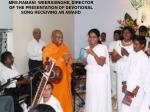 mrs ramani weerasinghe director of the presentation of devotional song receiving an award