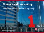 not for profit reporting