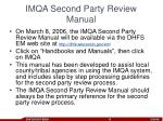 imqa second party review manual