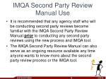 imqa second party review manual use