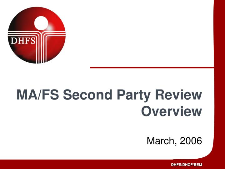 ma fs second party review overview n.