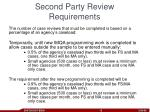 second party review requirements
