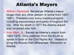 atlanta s mayors