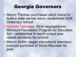 georgia governors