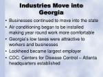 industries move into georgia