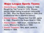 major league sports teams